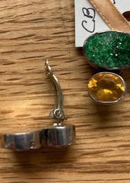 Citrine & Green Drusey Earrings, Amy Kahn Russell