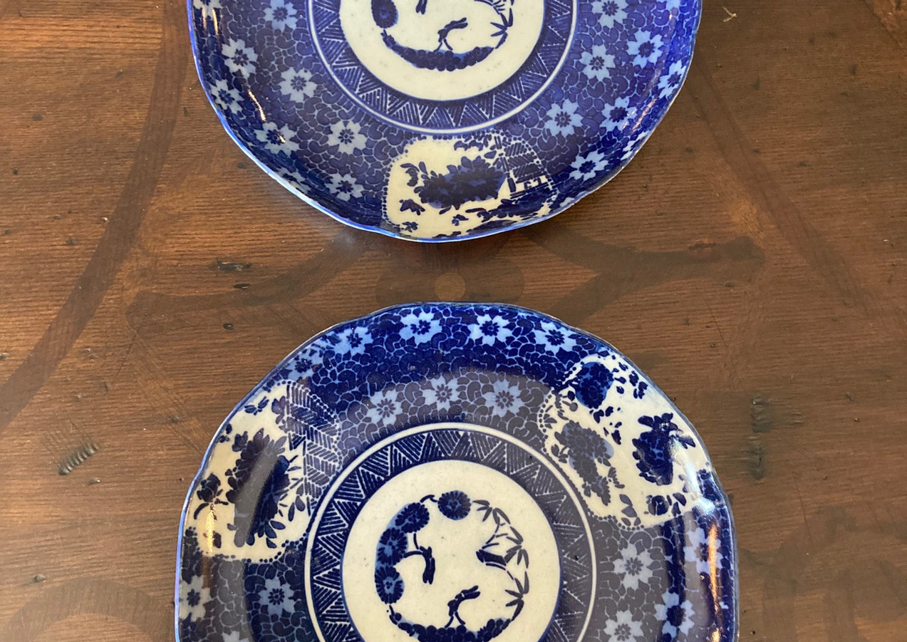 Japanese Meiji period, pair of plates, c. 1880