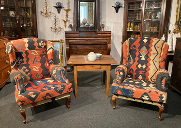 North Carolina table (c.1800s)/ Cupboard, very fine Guilford/Almance County// Cupboard (c. 1780) Hyde county