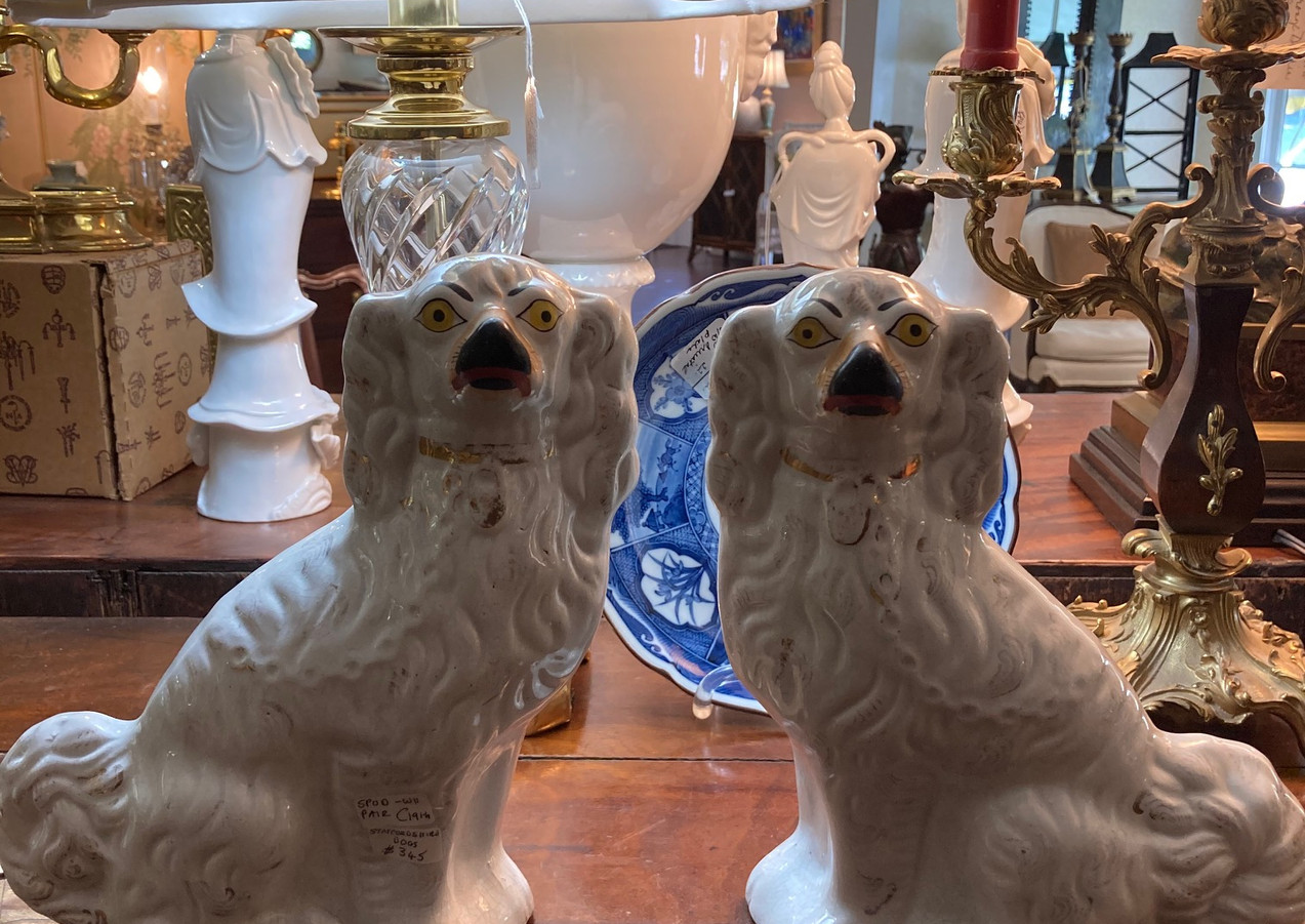 Staffordshire Dogs, pair, C. 19th century