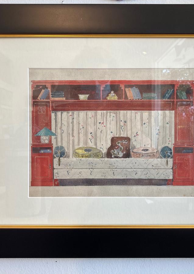 Chinese Barquette, original mixed media, c. 1960, English