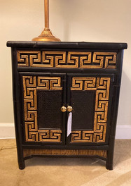 Small Painted Bamboo Cabinet