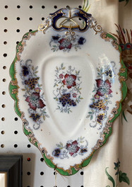 Sweet Meat dishes, pair available, Francis Morley & Co, U.K. C. 1845-1858