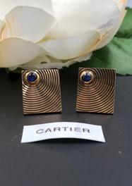 Cartier 14k sapphire earrings