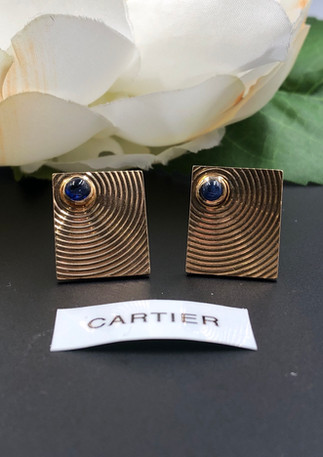 Cartier 14k sapphire earrings