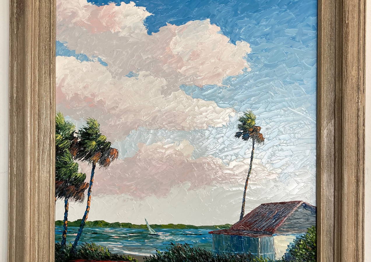 """River Cracker House"", Florida Highwaymen style, listed artist"