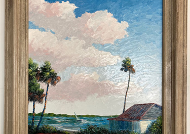 """River Cracker House"", Florida Highwaymen style, listed artist"