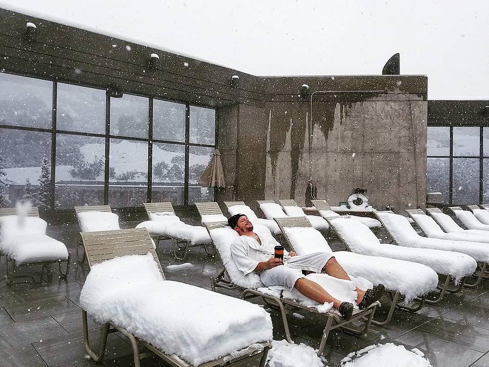 Roof Deck Snow Melting System