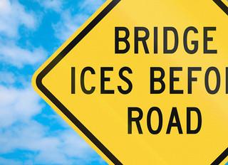 Just Like Bridges, Pedestal Pavers Freeze First