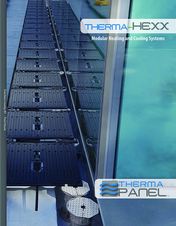 pedestal paver heating and cooling