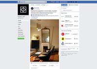 Une célèbre marque haut-de-gamme de luminaires italiens nous cite sur sa page officielle Facebook co