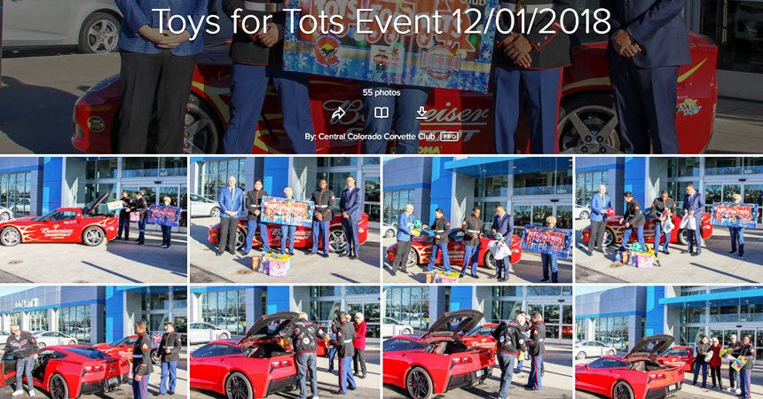 2018 Toys for Tots Central Colorado Corvette Club