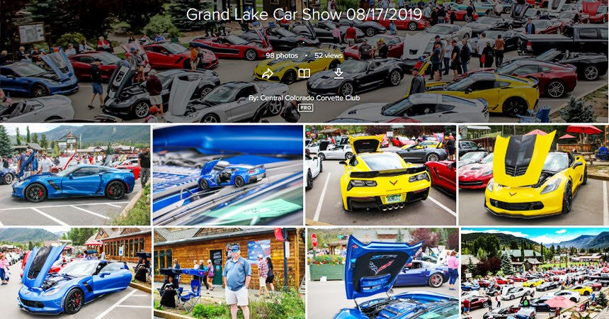 Central Colorado Corvette Club 2019 Grand Lake Show