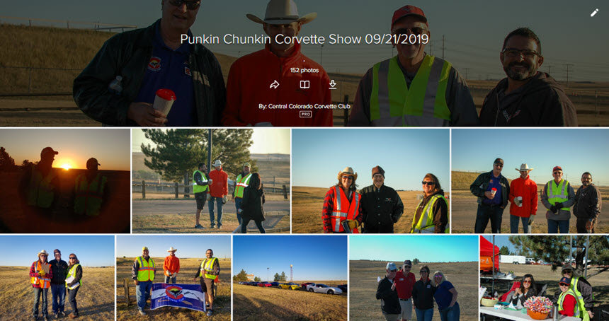 Central Colorado Corvette Club 2019 Punkin Chunkin Corvette Show