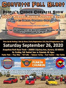 2020 Colorado Corvette Club Punkin Chunkin Corvette Show Flyer