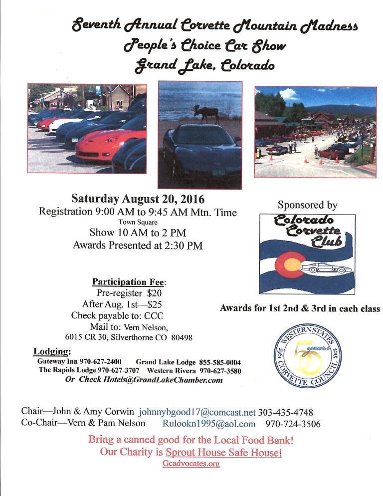 Corvette Mountain Madness Car Show