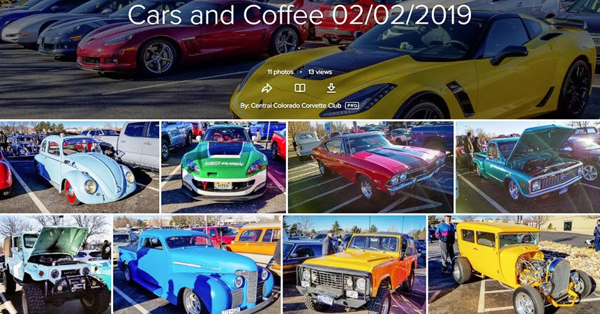 Central Colorado Corvette Club Jan 2019 Cars and Coffee