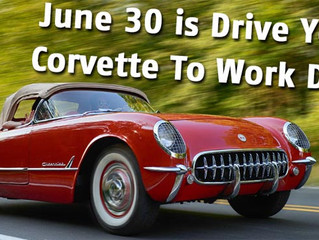 June 30th is National Drive Your Corvette to Work Day