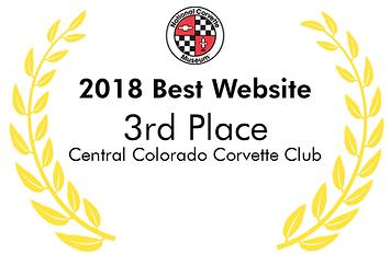 2018 NCM Best Website Award Central Colorado Corvette Club