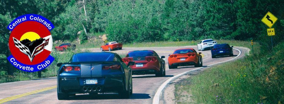 Central Colorado Corvette Club photo of Vettes crusing