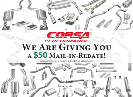 Zip Products & Corsa Team up to Give You a $50 Rebate