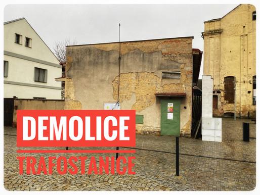 V Kralupech začne tento týden demolice bývalé trafostanice