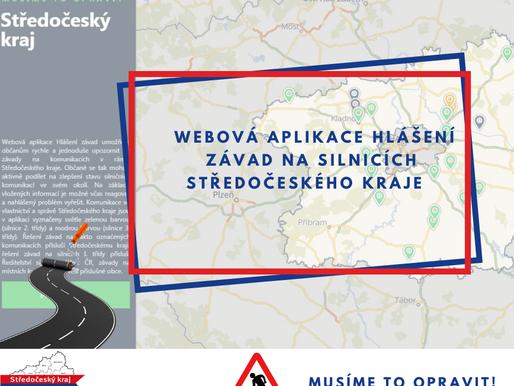 Hlášení závad na silnicích Středočeského kraje