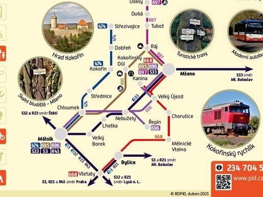 Sezónní doprava na Kokořínsko - nové víkendové spoje
