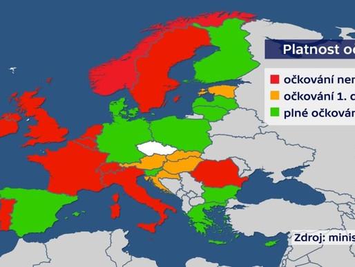 Do červené kategorie se nezařadí nově žádná ze zemí. Cestovatelská mapa od pondělí 14. června