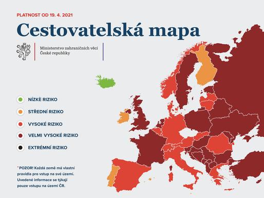 Belgie a Dánsko se přesunou do červené kategorie seznamu zemí podle míry rizika nákazy