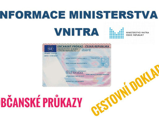 Odstávka systémů Ministerstva vnitra ČR týkající se vydání občanského průkazu