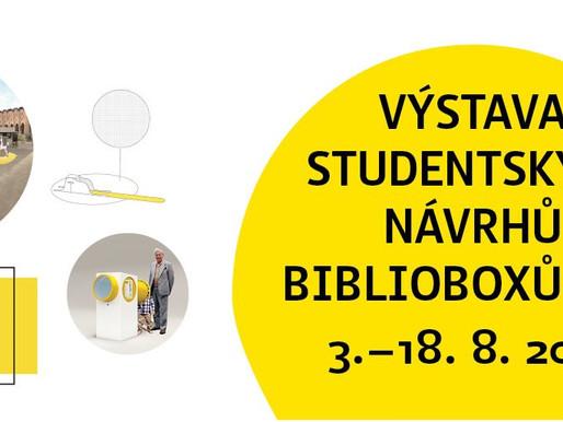 Výstava studentských návrhů biblioboxů-art v knihovně