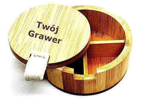 Pudełko Przybornik Bambus GRAWER Zdjęć