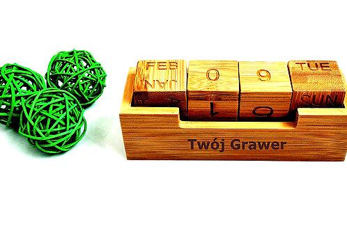 Kalendarz Wieczny Bambusowy Grawer Prezent