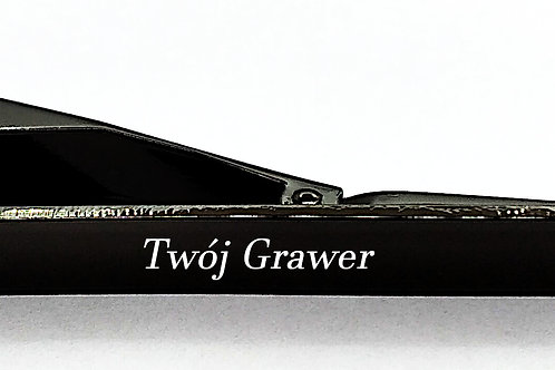 Spinka Do Krawata Czarna GRAWER