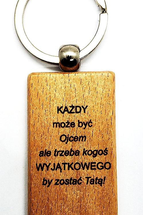 Brelok drewniany GRAWER dwustronny Breloczek