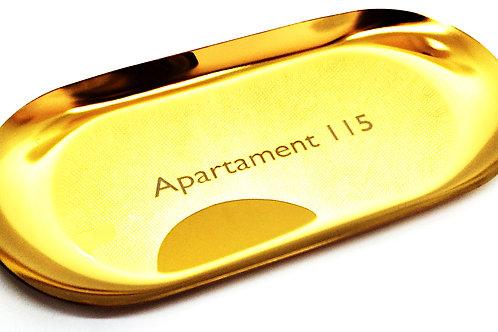 Tacka Złota Na Biżuterię 18 cm x 8 cm GRAWER Prezent