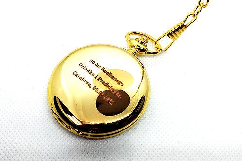 Zegarek Kieszonkowy Złoty Na Łańcuszku GRAWER