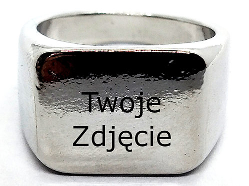 Kopia Sygnet Srebrny Metal GRAWER rozm. 10