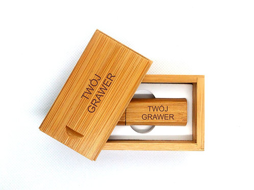 Pendrive 32 GB Bambus GRAWER Wzory Prezent