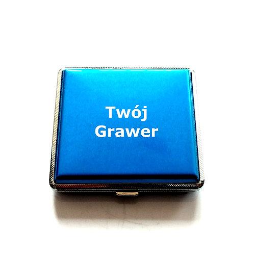 Papierośnica Niebieska GRAWER Prezent