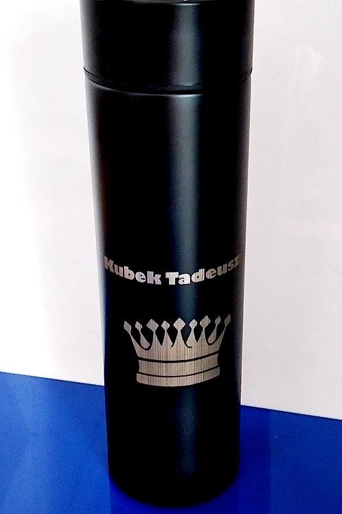 Kubek Termiczny Czarny Termometr LED Prezent GRAWER