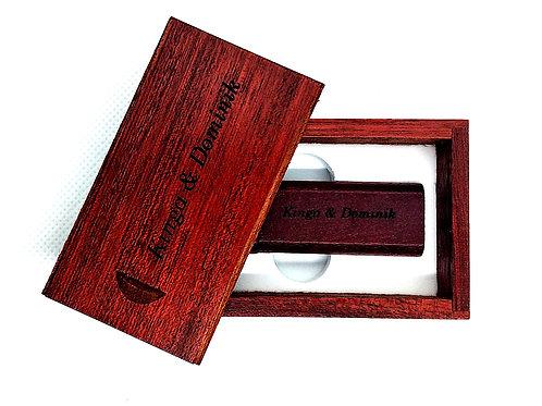 Pendrive 32 GB  Drewniany GRAWER Wzory Prezent