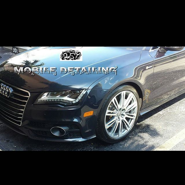 Audi A7 in for a C package full detail