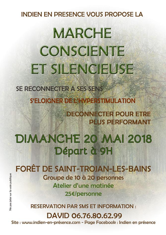MARCHE CONSCIENTE ET SILENCIEUSE