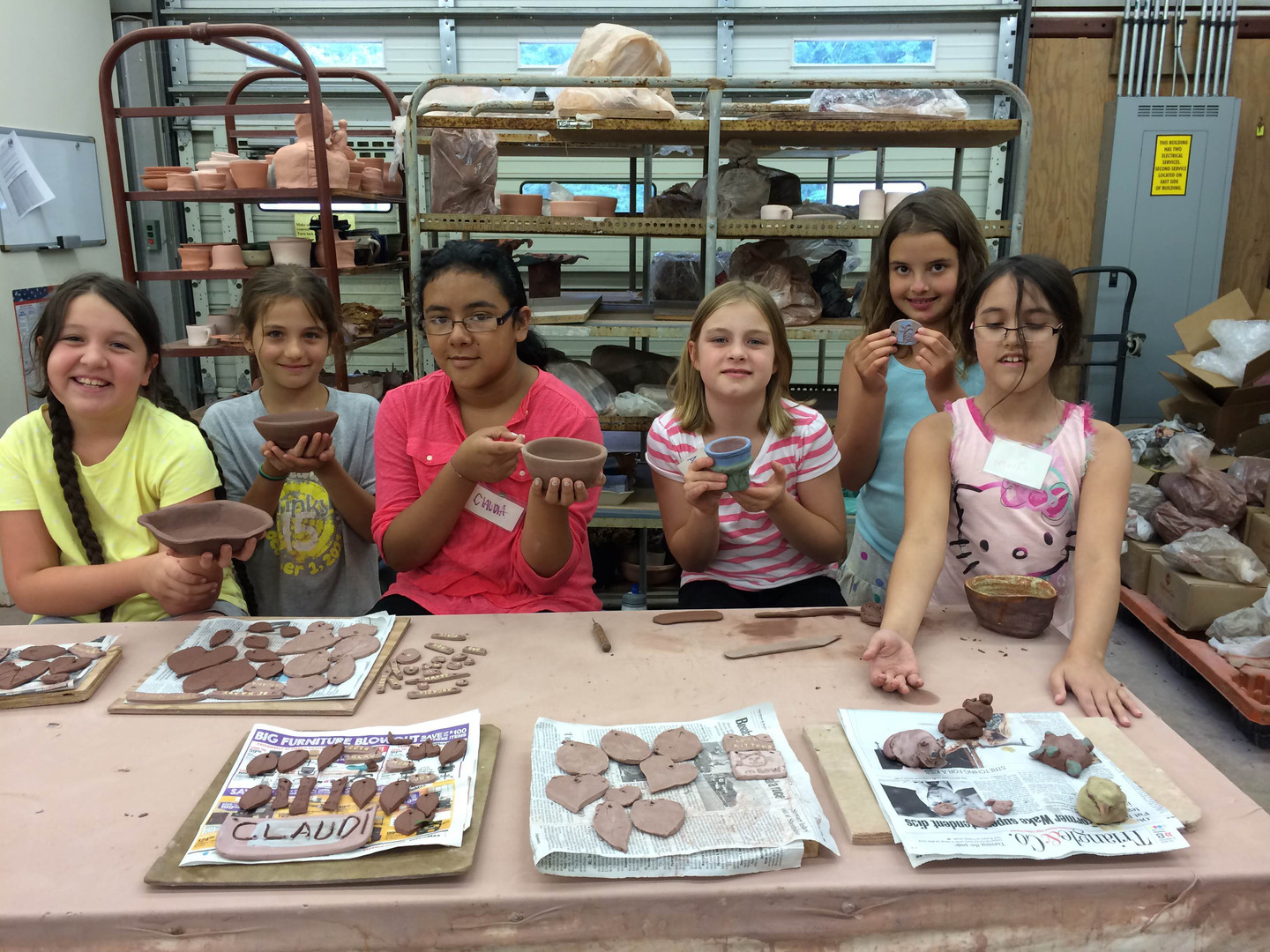 Middle school pottery camp