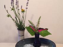 Water, light, fresh flowers.