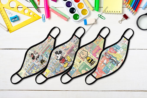 Vintage Character Facemasks - Kids & Adults