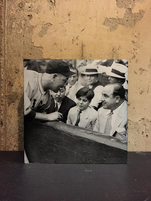 Cubs' Gabby Hartnett Autographs Ball for Al Capone, Sonny ~ Vintage Chicago Sign