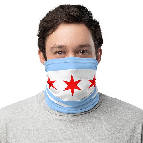 Chicago Flag Face Mask - Face Cover - Scarf - Neck Gaiter - Headband